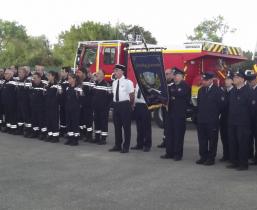 les pompieres de La Raye et la délégation allemande