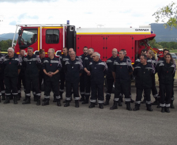 les pompiers de La Raye